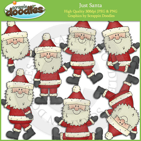 Just Santa Clip Art Download