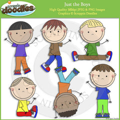 Just the Boys Clip Art