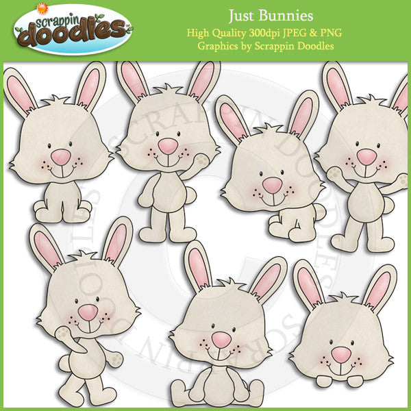 Just Bunnies Clip Art Download