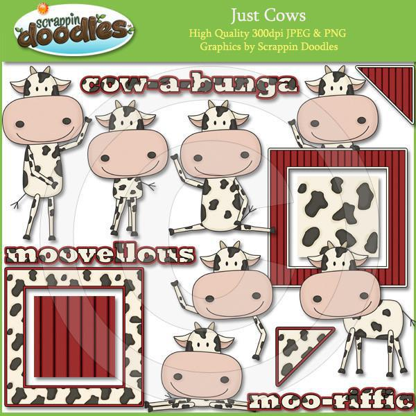 Just Cows Clip Art Download