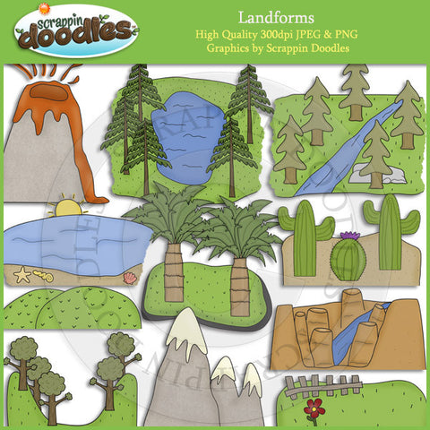 Landforms Clip Art Download
