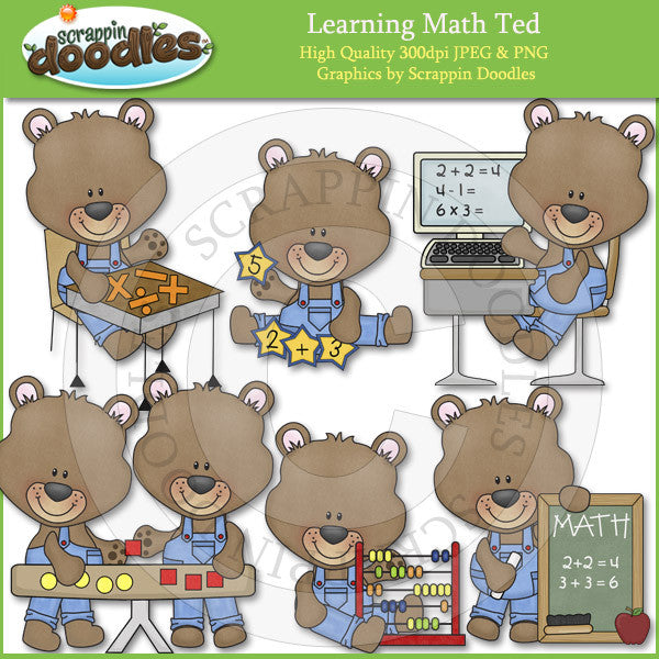Learning Math Ted Clip Art Download