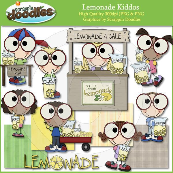 Lemonade Kiddos Clip Art Download