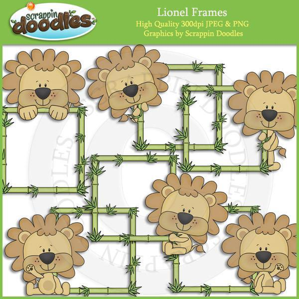 Lionel Frames Download - cute jungle lion frame