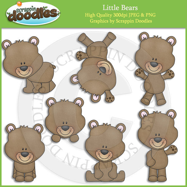 Little Bears Clip Art Download