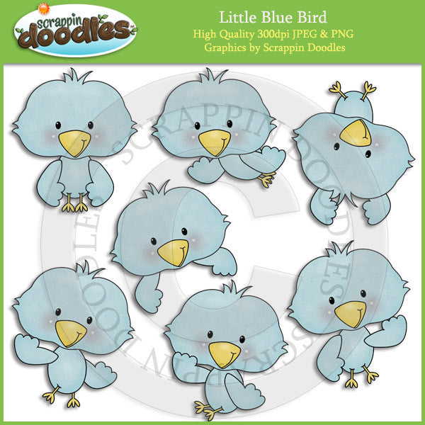 Little Blue Bird Clip Art Download