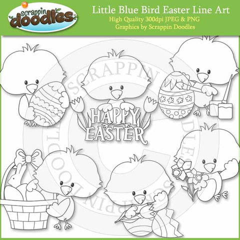 Little Blue Bird Easter