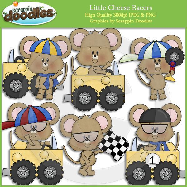 Little Cheese Racers Clip Art Download