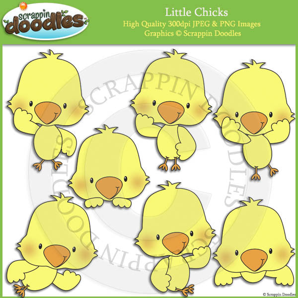 Little Chicks Clip Art