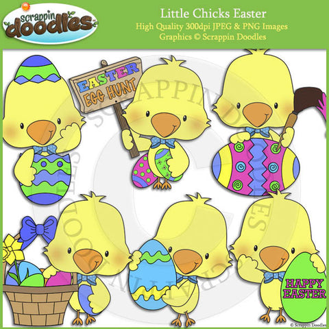 Little Chicks Easter Clip Art