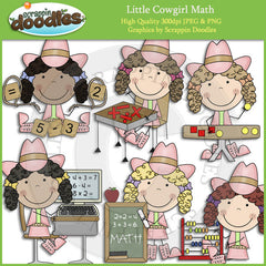 Little Cowgirl Math Clip Art Download