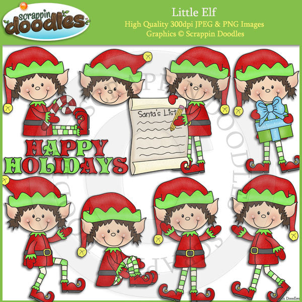 Little Elf Clip Art