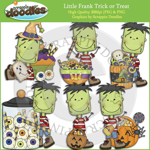 Little Frank Trick or Treat Clip Art Download