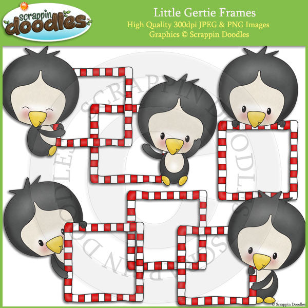 Little Gertie Frames Clip Art