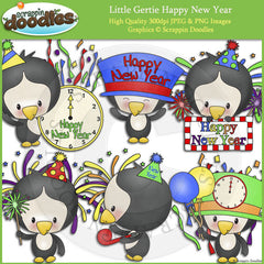 Little Gertie Happy New Year Clip Art