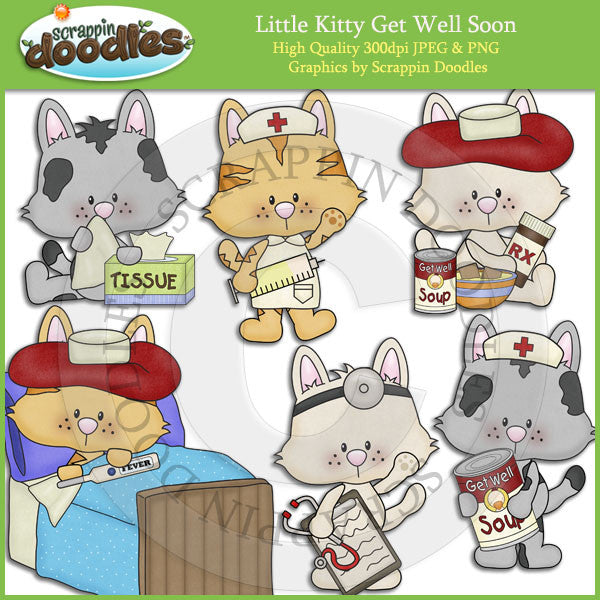 Little Kitty Get Well Soon Clip Art
