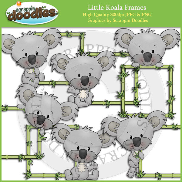 Little Koala Frames Clip Art Download