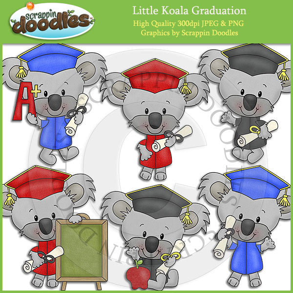 Little Koala Graduation Clip Art Download