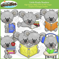 Little Koala Readers Clip Art