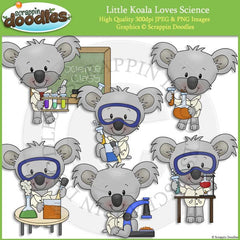 Little Koala Loves Science Clip Art Commercial Use