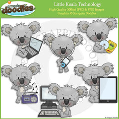Little Koala Technology Clip Art