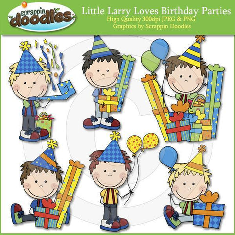 Little Larry Loves Birthday Parties Clip Art Download
