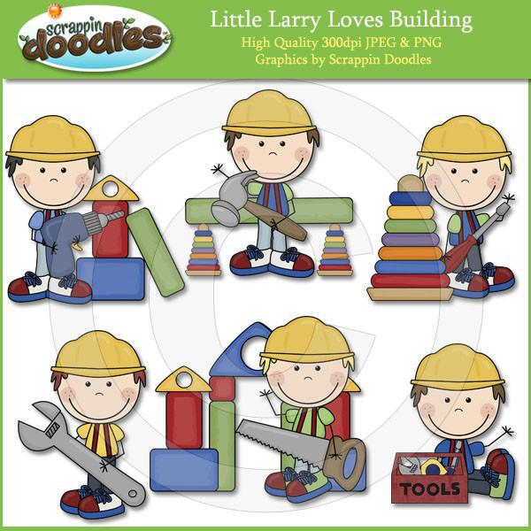 Little Larry Loves Building Clip Art Download