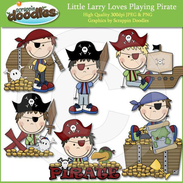 Curly Sue & Little Larry Pirates