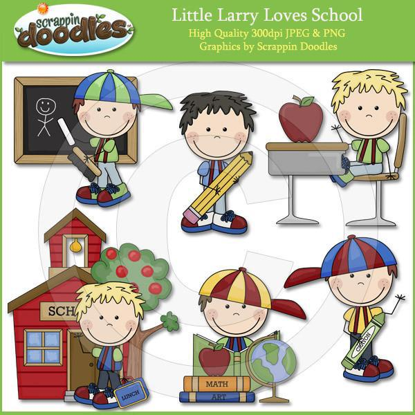 Little Larry Loves School Clip Art Download
