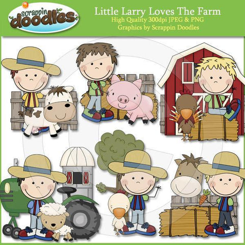 Little Larry Loves The Farm Clip Art Download