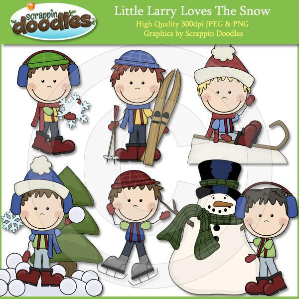 Little Larry Loves The Snow Clip Art Download