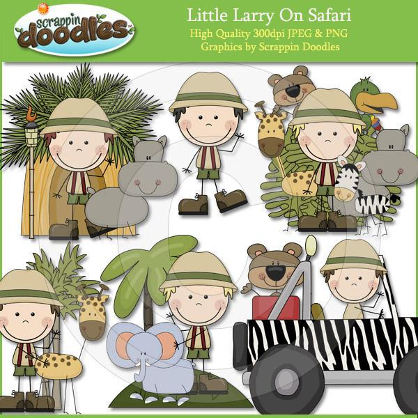 Little Larry On Safari Clip Art Download