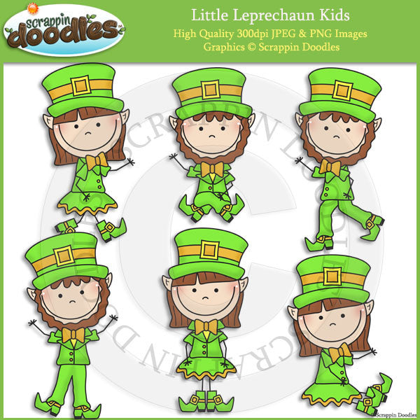 Little Leprechaun Kids Clip Art