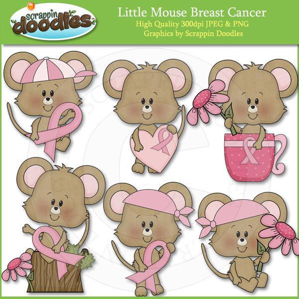 Little Breast Cancer Mouse Clip Art Download