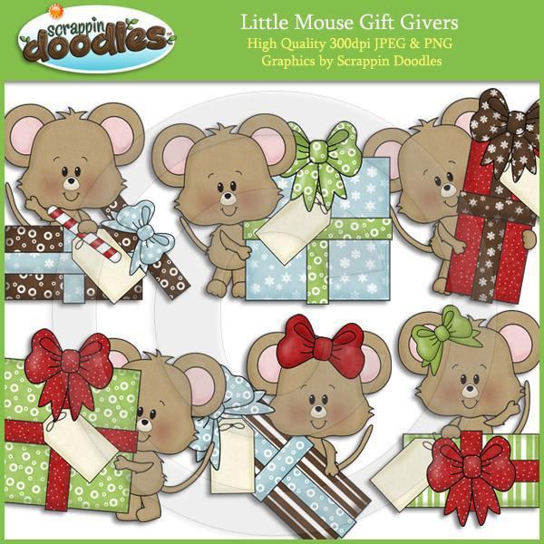 Little Mouse Gift Givers Clip Art Download