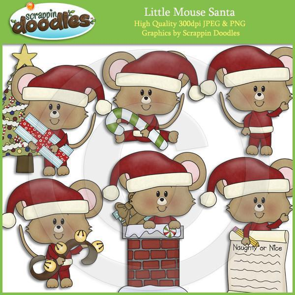 Little Mouse Santa Clip Art Download