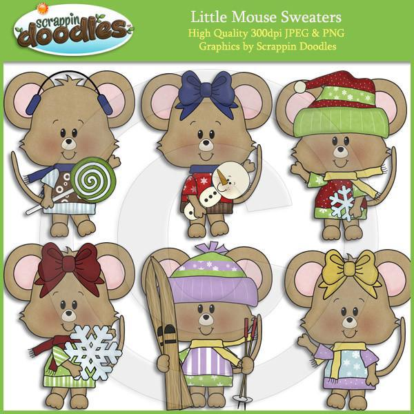 Little Mouse Sweaters Clip Art Download