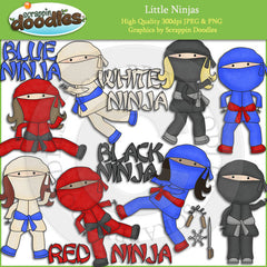 Little Ninjas Clip Art Download