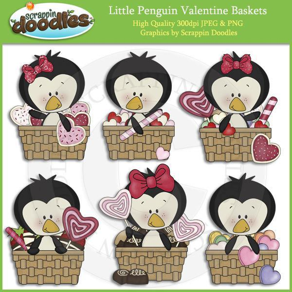 Little Penguin Valentine Baskets Download