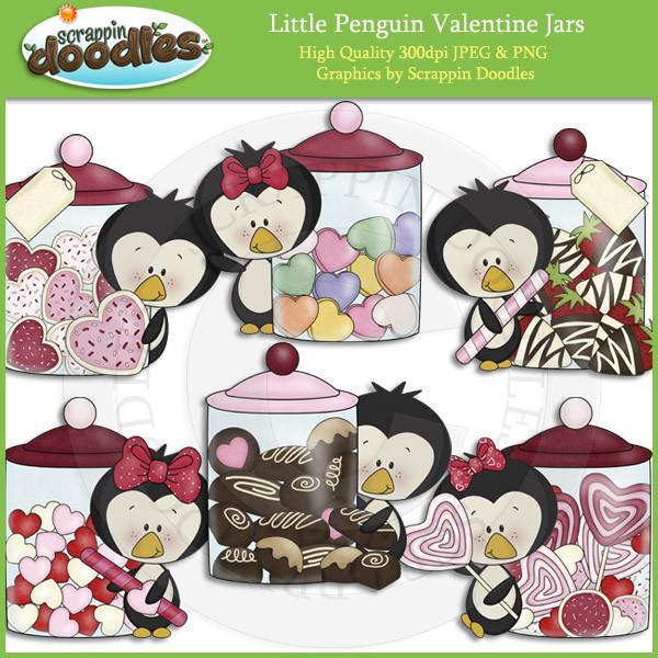Little Penguin Valentine Jars Download