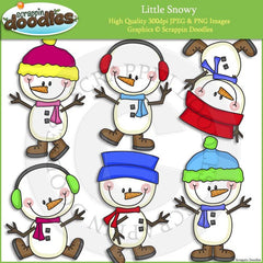 Little Snowy Clip Art