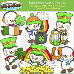 Little Snowy Luck O The Irish Clip Art