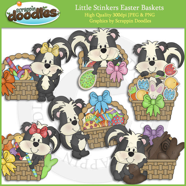 Little Stinkers Easter Baskets Clip Art Download