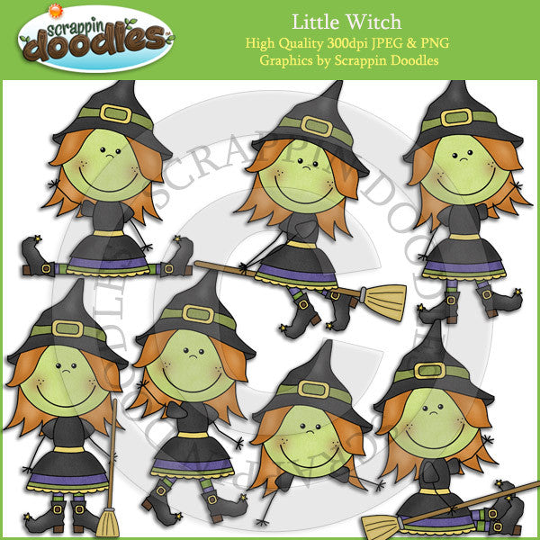 Little Witch Clip Art Download