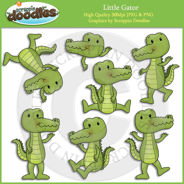 Little Gator Clip Art Download