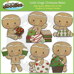 Little Gingy Christmas Baker Clip Art Download