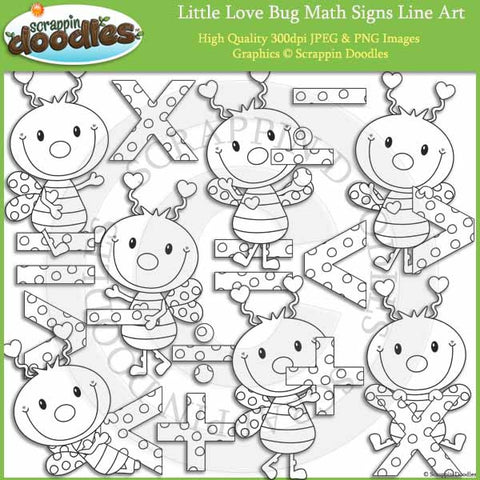 Little Love Bug Math Signs