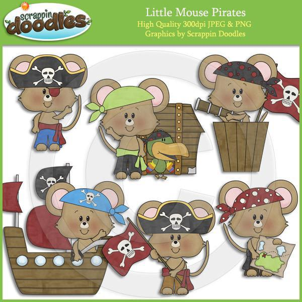 Little Mouse Pirates Clip Art Download