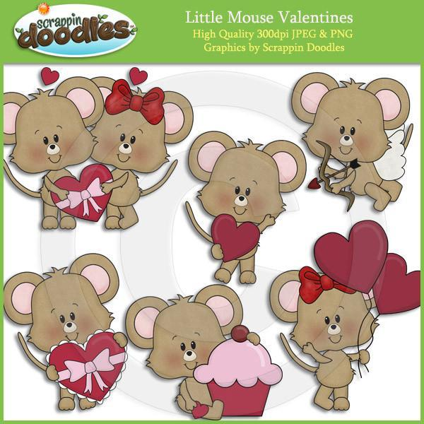 Little Mouse Valentines Clip Art Download