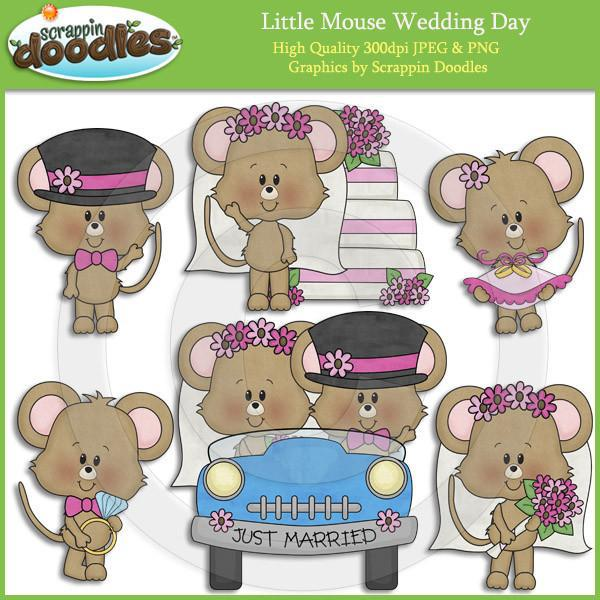 Little Mouse Wedding Day Clip Art Download